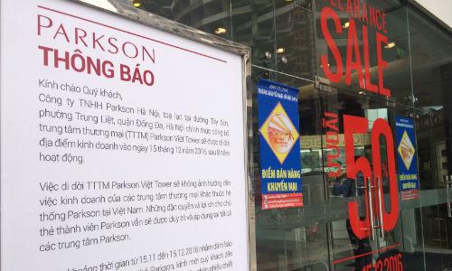 Parkson đóng cửa trung tâm thương mại thứ tư tại Việt Nam