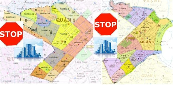 TPHCM: Không phát triển dự án nhà ở cao tầng mới ở quận 1, quận 3 đến năm 2020