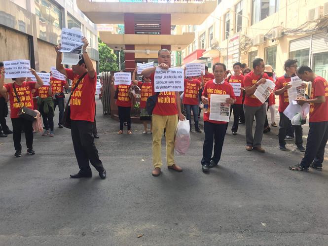 Khách hàng tiếp tục kéo đến Tổng công ty Thái Sơn đòi đất